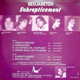 Roger And The Human Body - LP Vinyle MAP10 MUSIC AVENUE PARIS